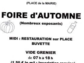 agenda Dordogne FOIRE D'AUTOMNE