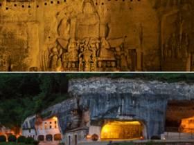 Visite nocturne des grottes de l