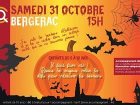 agenda Dordogne Chasse au trésor d'Halloween (enfants 6-10 ans) - COMPLET