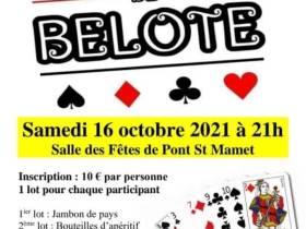 agenda Dordogne Concours de Belote