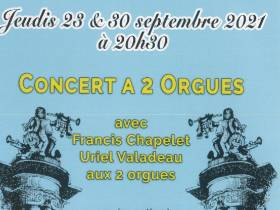 agenda Dordogne Concert à 2 orgues : F. Chapelet et U. Valadeau