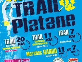 agenda Dordogne 2ème édition du Trail du Platane