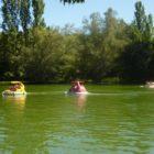 bateau à moteur étangs du bos