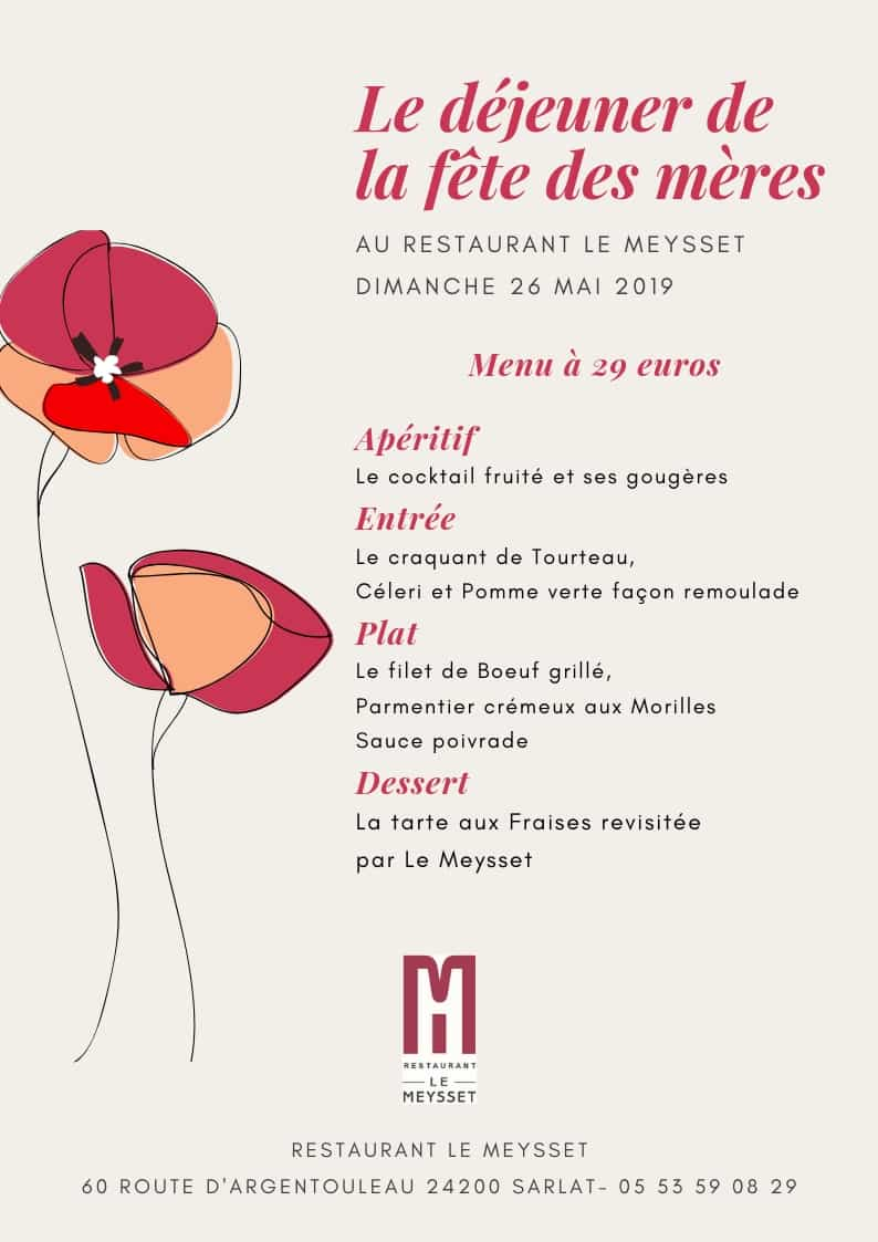 Restaurant le Meysset - Gourmandises de printemps pour la fête des mères