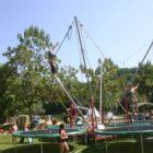 trampolines au parc des étangs du bos