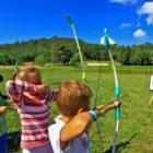 Activité tir à l'arc camping des chênes verts