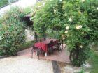 terrasse Gîte les chênes de Lauzanac
