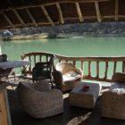 terrasse lodge sur l'eau