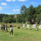 Château de Commarque : tir à l'arc