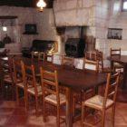 salle à manger du gîte le mazet