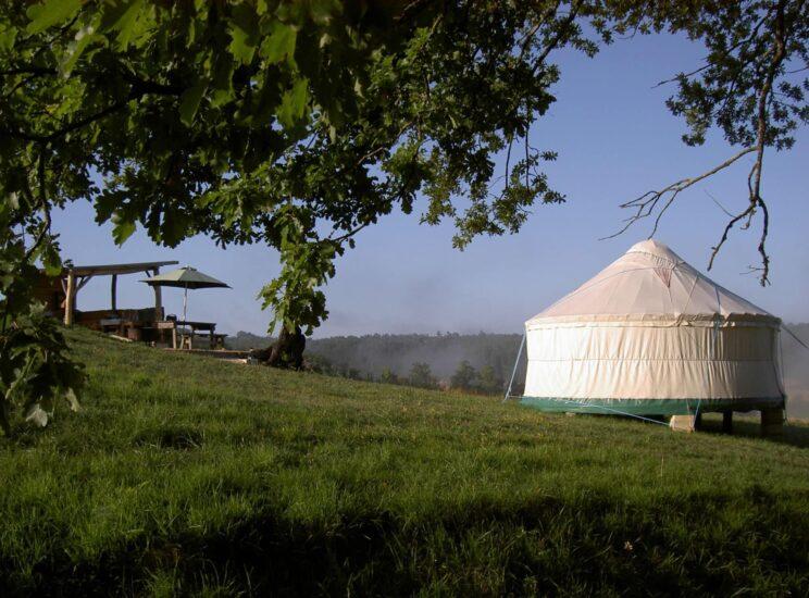 Yurtas de camping extravagantes